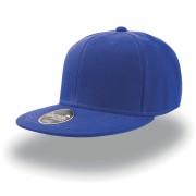 Бейсболка 'SNAP BACK' 6 клиньев, плоский козырек, пластиковая застежка пвх, синий, 100% акрил, 400 г