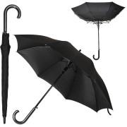 Зонт-трость 'Anti Wind', полуавтомат, деревянная ручка, черный; D=103 см