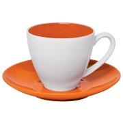 Чайная пара 'Galena' в подарочной упаковке, оранжевый, 200мл, 15,3х15,3х10см, фарфор