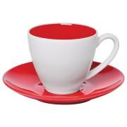 Чайная пара 'Galena' в подарочной упаковке, красный, 200мл, фарфор