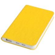 Универсальное зарядное устройство 'Provence' (4000mAh),желтый, 7,5х12,1х1,1см, искусственная кожа,пл