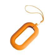 Обложка с ланъярдом к зарядному устройству 'Seashell-2', оранжевый,силикон