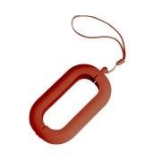 Обложка с ланъярдом к зарядному устройству 'Seashell-2', красный,силикон