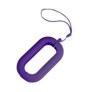 Обложка с ланъярдом к зарядному устройству 'Seashell-2', фиолетовый,силикон