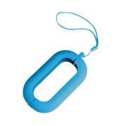 Обложка с ланъярдом к зарядному устройству 'Seashell-2', голубой,силикон