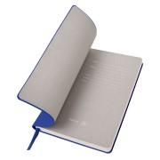 Бизнес-блокнот 'Gravity', B5 формат, синий, серый форзац, мягкая обложка, в клетку