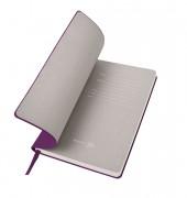 Бизнес-блокнот 'Gravity', B5 формат, фиолетовый, серый форзац, мягкая обложка, в клетку