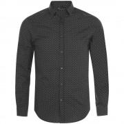 Рубашка мужская BECKER MEN, темно-серая с белым