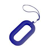 Обложка с ланъярдом к зарядному устройству 'Seashell-2', синий,силикон