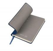 Бизнес-блокнот 'Funky', 90*140 мм, темно-синий, серый форзац, мягкая обложка, в клетку