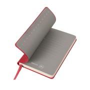 Бизнес-блокнот 'Funky', 90*140 мм, красный, серый форзац, мягкая обложка, в клетку