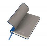 Бизнес-блокнот 'Funky', 90*140 мм, синий, серый форзац, мягкая обложка, в клетку