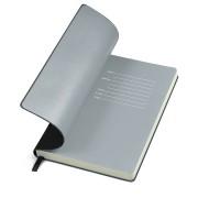 Бизнес-блокнот 'Funky', 90*140 мм, черный, серый форзац, мягкая обложка, в клетку