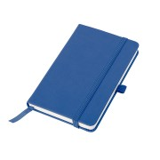 Бизнес-блокнот 'Justy',  90*140 мм мм, синий, твердая обложка,  резинка 7 мм, в клетку