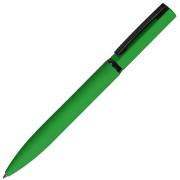 MIRROR BLACK, ручка шариковая, зеленый, металл, софт- покрытие