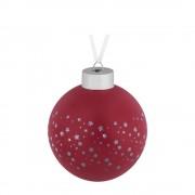 Елочный шар Stars, 8 см, красный