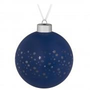 Елочный шар Stars, 10 см, синий