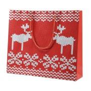 Пакет  большой 'Oh my deer', 43*32*11 см, флокированный