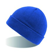 Шапка вязаная  двойная 'Wind', с отворотом_ярко синий,100% акрил