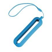 Обложка с ланъярдом к зарядному устройству 'Seashell-1', голубой,силикон