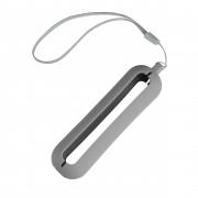 Обложка с ланъярдом к зарядному устройству 'Seashell-1', серый,силикон