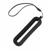 Обложка с ланъярдом к зарядному устройству 'Seashell-1', черный,силикон