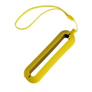 Обложка с ланъярдом к зарядному устройству 'Seashell-1', желтый,силикон