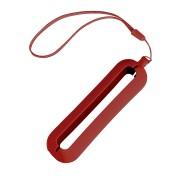Обложка с ланъярдом к зарядному устройству 'Seashell-1', красный,силикон