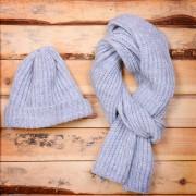 GoSnow, вязаный комплект шарф и шапка, меланж без фурнитуры