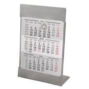 Календарь настольный на 2 года; размер 18*11,5 см, цвет- серебро, сталь