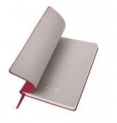 Бизнес-блокнот 'Gravity', B5 формат, красный, серый форзац, мягкая обложка, в клетку