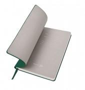 Бизнес-блокнот 'Gravity', B5 формат, зеленый, серый форзац, мягкая обложка, в клетку