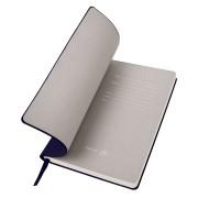 Бизнес-блокнот 'Gravity', B5 формат, темно-синий, серый форзац, мягкая обложка, в клетку