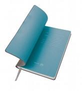 Бизнес-блокнот 'Gravity', B5 формат, серый, голубой форзац, мягкая обложка, в клетку