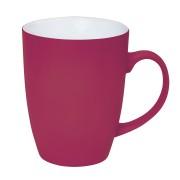 Кружка 'Sweet' с прорезиненным покрытием, розовый, 350 мл, фарфор