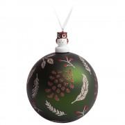 Елочный шар с фигуркой «Зимняя листва», 10 см