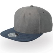 Бейсболка 'VIBE', серый - темно-синий, 6 клиньев,  100% полиэстер, 300 грм2/