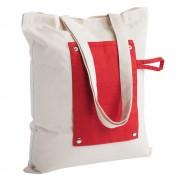 Холщовая сумка складная Dropper, красная