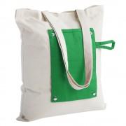 Холщовая сумка складная Dropper, зеленая