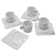 Чайный набор 'England': на 4 персоны; 40,5х19х9см, 200 мл; фарфор; деколь