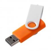 Флешка Twist Color, оранжевая с белым, 16 Гб