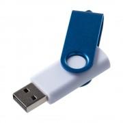 Флешка Twist Color, белая c синим, 16 Гб