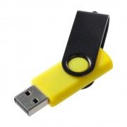 Флешка Twist Color, желтая с черным, 16 Гб