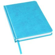 Ежедневник недатированный Bliss, А5,  голубой, белый блок, без обреза