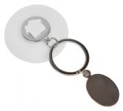 Брелок HALMAN, 11,5х5 см, белый , металл, силикон