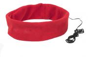 Повязка на голову MARKIZ с наушниками, красный, флис