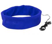 Повязка на голову MARKIZ с наушниками, синий, флис