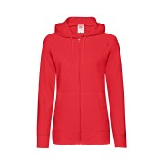 Толстовка без начеса 'Ladies Lightweight Hooded Sweat', красный, S, 80% х/б 20% полиэстер, 240 г/м2